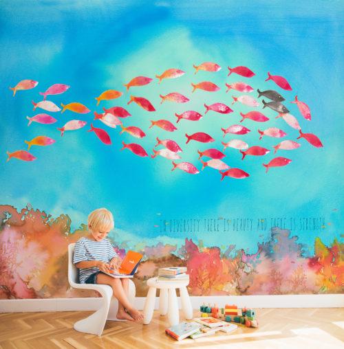 Tapety v dětském pokoji: zkuste ty panoramatické!